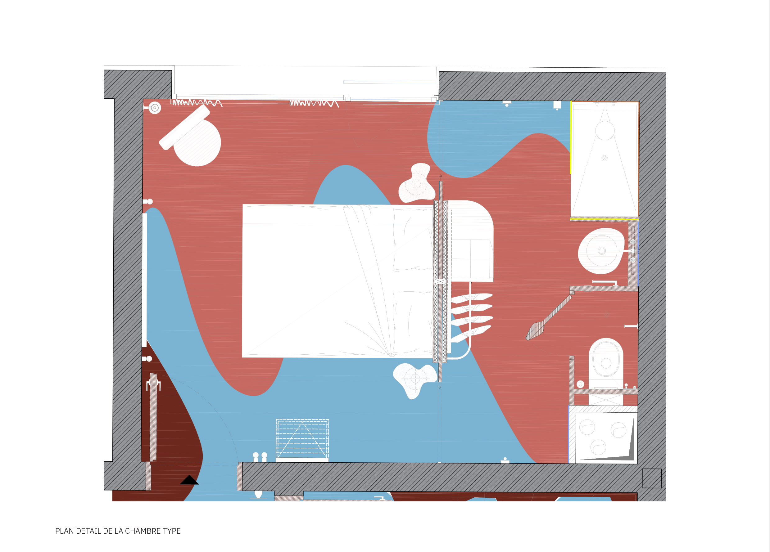 Detail plan of a room type
